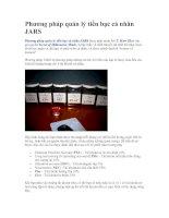 Tài liệu Phương pháp quản lý tiền bạc cá nhân JARS pdf