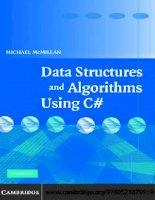 Tài liệu DATA STRUCTURES AND ALGORITHMS USING C# pdf