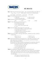 Tài liệu Đề trắc nghiệm hóa 6 (Ôn thi ĐH) pptx