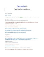 Tài liệu Past perfect & Past Perfect continous pptx