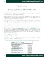 Tài liệu Google Adwords-Chapter 8-Finding High Paying Adsense Keywords doc
