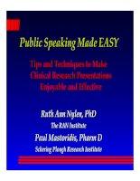 Tài liệu Public Speaking Made EASY Public Speaking Made EASY : : doc