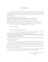 Phương pháp toán tử giải để tìm nghiệm của phương trình vi phân tuyến tính hệ số hằng số
