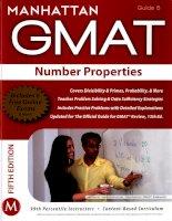 Manhattan GMAT number properties