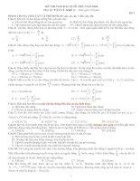 Tài liệu Đề thi Vật lý khối A - đề số 3 doc