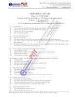 Ngân hàng câu hỏi trắc nghiệm hệ cơ sở dữ liệu ( 345 câu hỏi có đáp án )