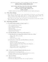 Tài liệu ĐỀ CƯƠNG HƯỚNG DẪN ÔN THI LIÊN THÔNG BẬC CAO ĐẲNG LÊN ĐẠI HỌC NGÀNH: CÔNG NGHỆ THÔNG TIN doc