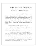 Tài liệu MỘT SỐ BIỆN PHÁP RÈN PHÁT ÂM CHỮ L – N CHO TRẺ 5 TUỔI pptx