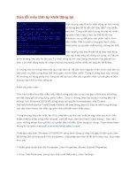 Tài liệu Sửa lỗi máy tính tự khởi động lại docx