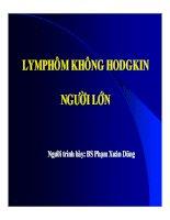 Tài liệu Luận văn Lymphôm Không Hodgkin người lớn pdf