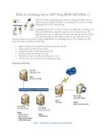 Tài liệu Kiểm tra Exchange Server 2007 bằng MOM 2005 (Phần 1) pdf