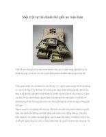 Tài liệu Một trật tự tài chính thế giới an toàn hơn pdf