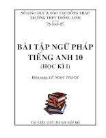 Tài liệu Bài tập ngữ pháp tiếng Anh 10 (HKI) pdf