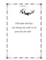 Tài liệu Tiểu luận triết học - Lực lượng sản xuất và các quan hệ sản xuất pptx