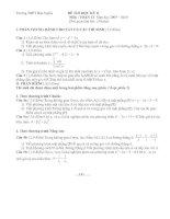 Gián án đề kiêm tra học kì 2 khối 12