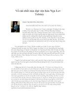 Bài giảng Về cái chết của Đại thi hào Nga L.Tolstoy