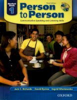Person to person : Communicative speaking and listening skills. Student book 1- Third Edition / Jack C. Richards