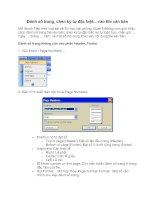 Tài liệu Đánh số trang, chèn ký tự đặc biệt... vào file văn bản doc