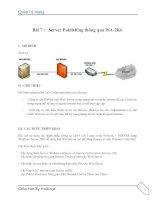 Tài liệu Server Publishing thông qua ISA-2006 (lab 7) ppt