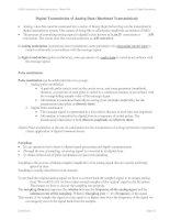 Tài liệu Lecture 22: Digital Transmission of Analog Data (Baseband Transmission): doc