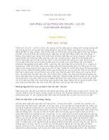 Tài liệu Giới thiệu về Sự Phân tích Chi phí - Lợi ích (Cost-Benefit Analysis) doc