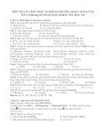 Bài giảng Câu hỏi trắc nghiêm tin 10 chương 3