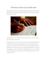 Tài liệu Chiến lược viết đơn xin việc khác nhau docx