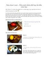 Tài liệu Sữa chua Lassi – Món mới chiêu đãi bạn bè đầu năm học ppt