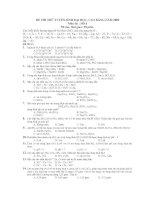 Bài soạn ĐỀ THI THỬ ĐH 2009-SỐ 015-ĐÁP ÁN