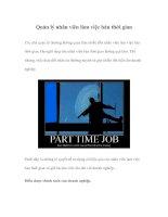 Tài liệu Quản lý nhân viên làm việc bán thời gian docx