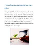 Tài liệu 7 bước để lập Kế hoạch marketing hoàn hảo! doc