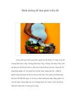 Tài liệu Dinh dưỡng để thai phát triển tốt docx
