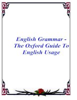 Tài liệu English Grammar - The Oxford Guide To English Usage doc