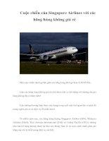 Tài liệu Cuộc chiến của Singapore Airlines với các hãng hàng không giá rẻ docx