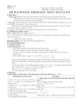 Bài soạn Tiết 35- Hệ phương trình bậc nhất 2 ẩn số- Đại số 9