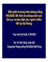 Tài liệu Điều phối chương trình phòng chống HIV/AIDS: Mô hình dự phòng-chăm sóc liên docx
