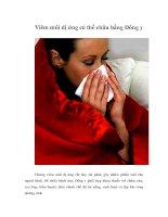 Tài liệu Viêm mũi dị ứng có thể chữa bằng Đông y ppt
