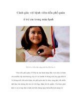 Tài liệu Cảnh giác với bệnh viêm tiểu phế quản ở trẻ em trong mùa lạnh docx