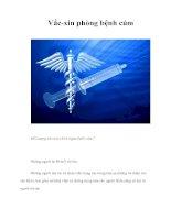 Tài liệu Vắc-xin phòng bệnh cúm pptx