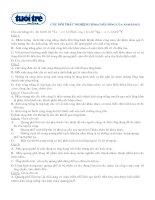 Tài liệu Câu hỏi trắc nghiệm ôn thi ĐH (Tính chất sóng ánh sáng) docx
