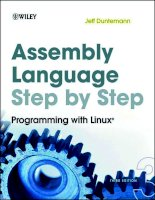 Tài liệu Assembly Language Step-by-Step Programming with Linux ppt