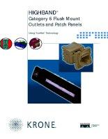 Tài liệu KRONE - Datasheet - Cat 6 - Patch Panel & Outlets - HIGHBAND Flush Mount ppt