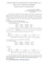 Tài liệu PHƯƠNG PHÁP XÁC ĐỊNH NHANH SẢN PHẨM TRONG CÁC PHẢN ỨNG CỦA HỢP CHẤT PHOTPHO doc
