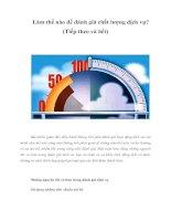 Tài liệu Làm thế nào để đánh giá chất lượng dịch vụ? (Tiếp theo và hết) pdf