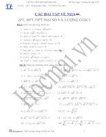 Tài liệu (Luyện thi cấp tốc Toán) Chuyên đề phương trình - bất phương trình_Bài tập và hướng dẫn giải docx