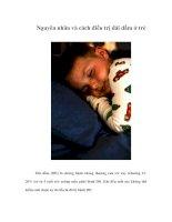 Tài liệu Nguyên nhân và cách điều trị đái dầm ở trẻ pdf