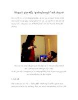"""Tài liệu Bí quyết giao tiếp """"phi ngôn ngữ"""" nơi công sở pdf"""