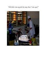 """Tài liệu Nỗi khổ của người bị ung thư """"của quý"""" pdf"""