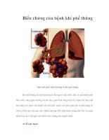Tài liệu Biến chứng của bệnh khí phế thũng pptx