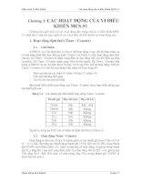 Tài liệu Giáo trình Vi điều khiển - Chương3: CÁC HOẠT ĐỘNG CỦA VI ĐIỀU KHIỂN MCS-51 ppt